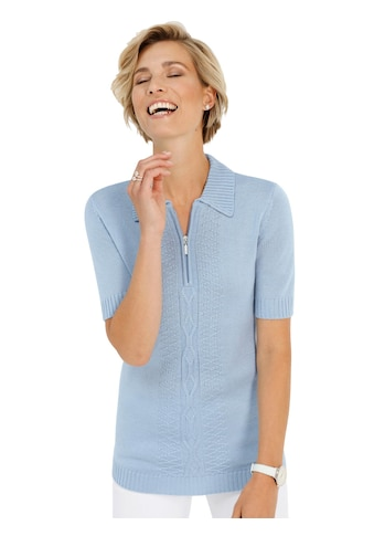 Classic Basics Pullover mit charmantem Strickmuster vorne kaufen