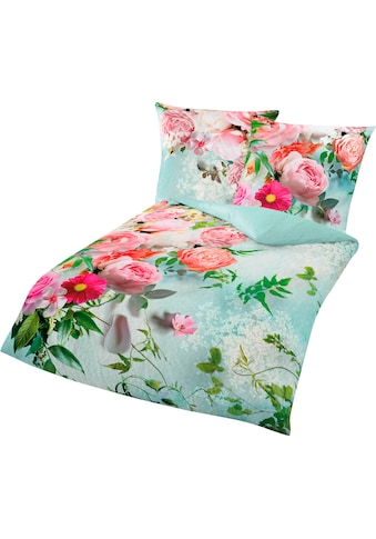 BIERBAUM Bettwäsche »Romantic«, mit romantischen Blumen kaufen