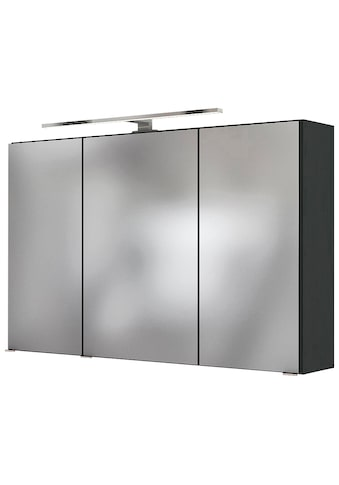 HELD MÖBEL Badezimmerspiegelschrank »Livorno 3D-Spiegelschrank 100«, Inklusive LED-Beleuchtung kaufen