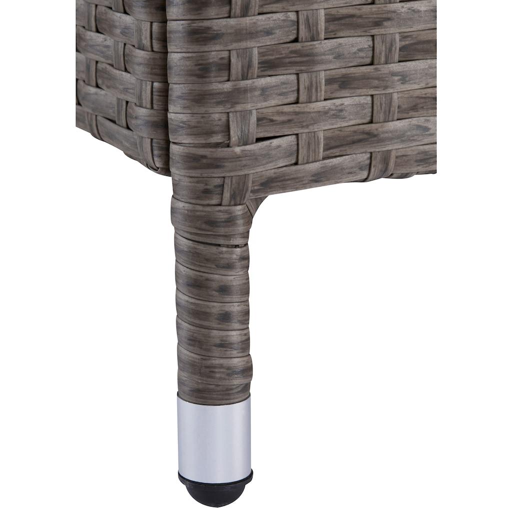 KONIFERA Gartenbank »Mailand«, Kunststoff, 113,5x89,5x47,5 cm