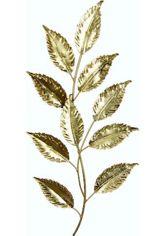 I.GE.A. Wanddekoobjekt »Metall-Blatt«, Wanddeko, aus Metall, zum Hängen kaufen