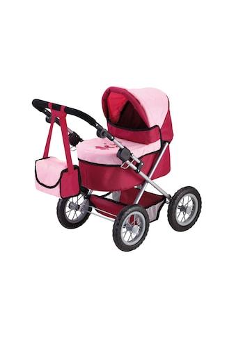 Bayer Puppenwagen »Trendy, Prinzessin rot/rosa«, inkl. Wickeltasche kaufen