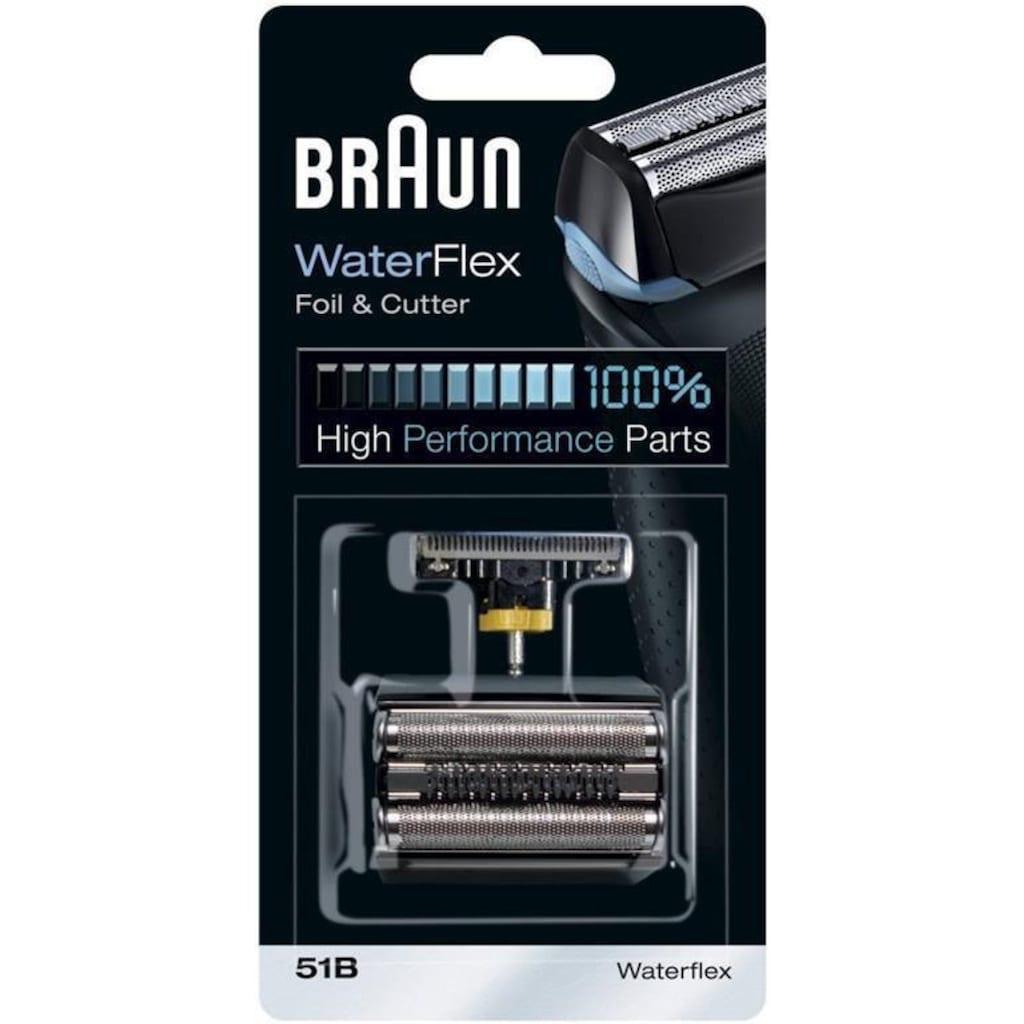 Braun Ersatzscherteil »51«, kompatibel mit WaterFlex Rasierern