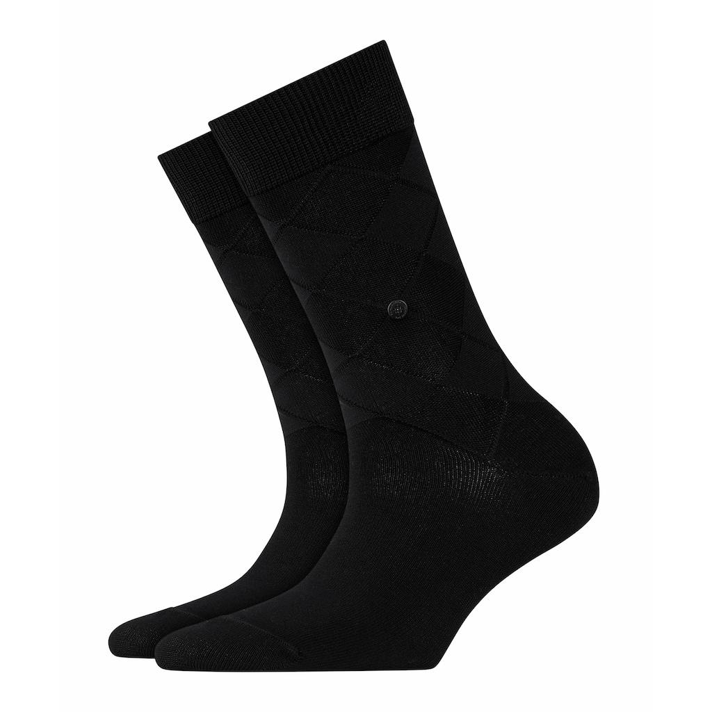 Burlington Socken »Black Rhomb«, (1 Paar), mit weicher Baumwolle