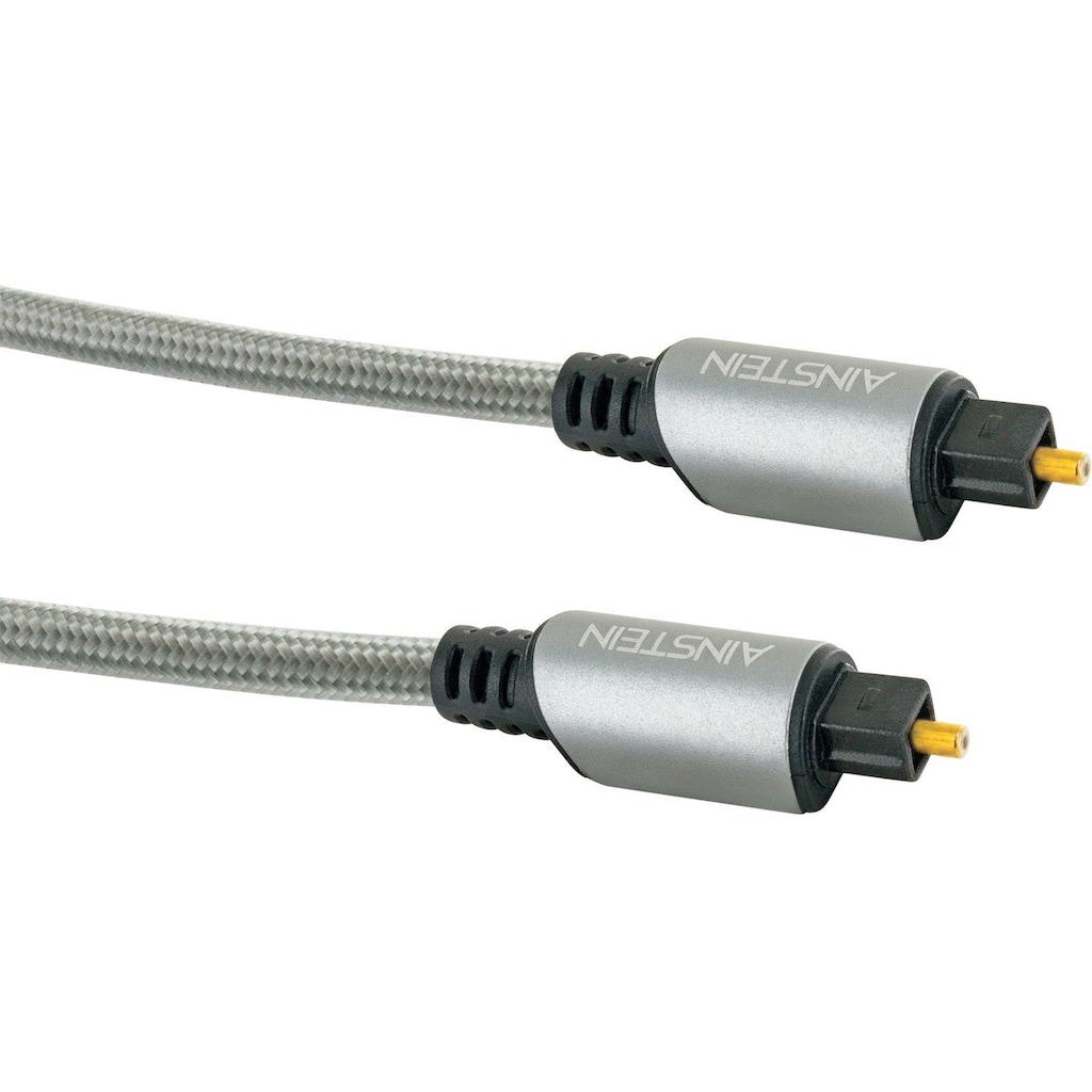 Schwaiger Toslink Kabel, Lichtwellenleiter mit vergoldeten Metallsteckern »mit Knickschtutz«