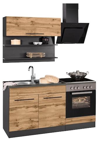 HELD MÖBEL Küchenzeile »Tulsa«, ohne E-Geräte, Breite 160 cm, schwarze Metallgriffe,... kaufen