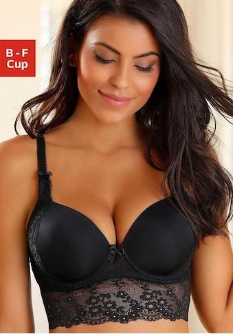 LASCANA Lang-BH »Inessa«, mit Bügel und Spitze kaufen