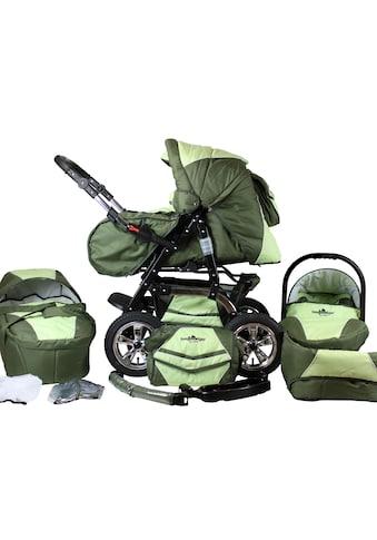 bergsteiger Kombi-Kinderwagen »Milano, dark green, 3in1«, 15 kg, Made in Europe;... kaufen