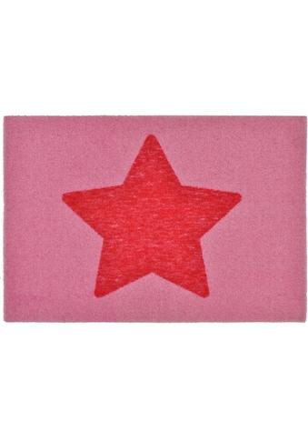 Zala Living Fußmatte »Stern«, rechteckig, 7 mm Höhe, Fussabstreifer, Fussabtreter, Schmutzfangläufer, Schmutzfangmatte, Schmutzfangteppich, Schmutzmatte, Türmatte, Türvorleger, rutschhemmend beschichtet, In- und Outdoor geeignet kaufen