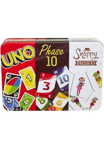 """Mattel® Spiel, """"Mattel Games  -  Kartenspiel - Klassiker in Metalldose: UNO, Phase 10, Snappy Dressers"""" kaufen"""