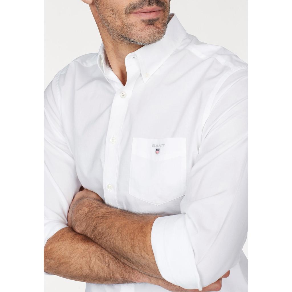 Gant Langarmhemd, mit Brusttasche