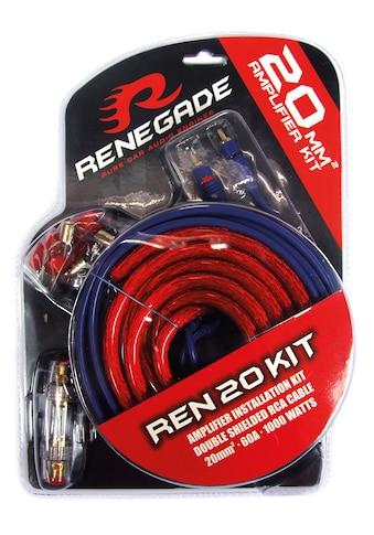 Renegade 20 mm2 Verstärker-Installations-Set, 60 A / 1.000 Watt »REN20KIT«, (ein Set) kaufen