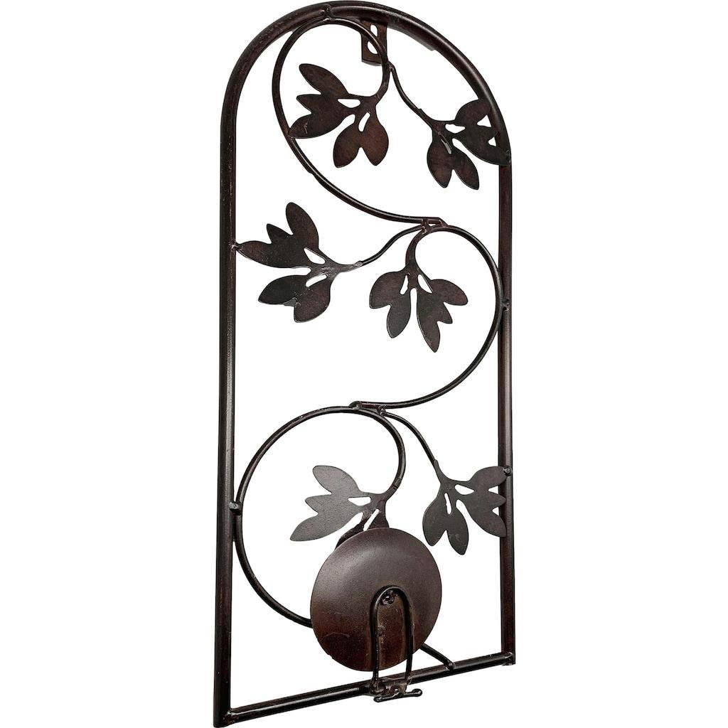 Heim INTERIOR & SEASONAL DESIGN Wandkerzenhalter, Kerzen-Wandleuchter, Kerzenhalter, Kerzenleuchter hängend, Wanddeko, aus Metall