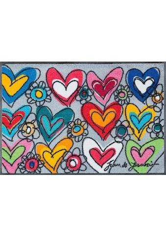 wash+dry by Kleen-Tex Fußmatte »With Love«, rechteckig, 7 mm Höhe, Schmutzfangmatte kaufen
