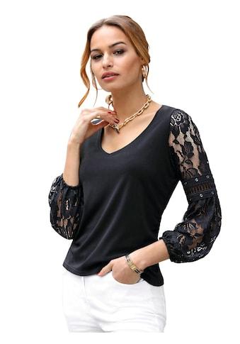 Lady Shirt mit transparenten Spitzenärmel kaufen