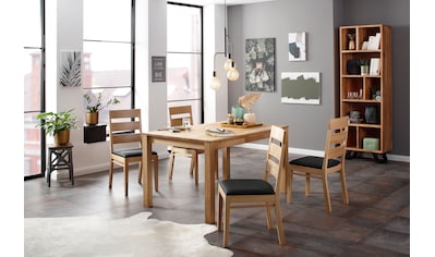 Home affaire Essgruppe »Soeren 2« (Set, 5 - tlg Tisch 140/90 cm, 4 Stühle, Polstersitz) kaufen