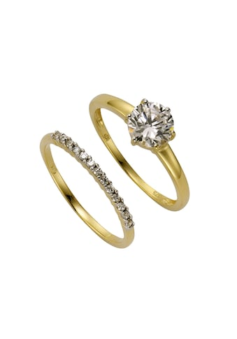CELESTA Fingerring »375/- Gelbgold Zirkonia«, Ring-Set kaufen