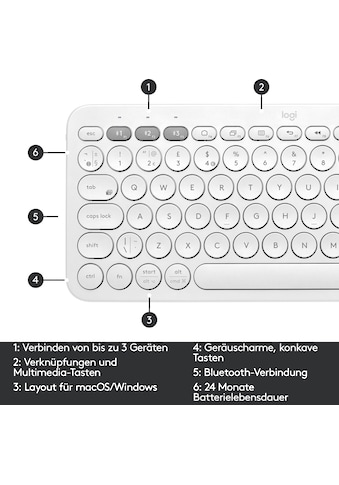 Logitech Wireless-Tastatur »K380 Multi-Device«, (Multimedia-Tasten) kaufen