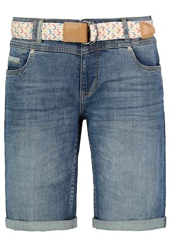 SUBLEVEL Jeansbermudas, mit buntem Gürtel kaufen