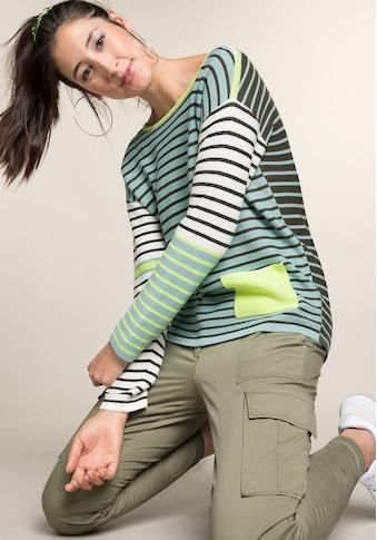 bianca Strickpullover »OLINDE«, im coolen Streifen-Design im Colour-Blocking Stil kaufen