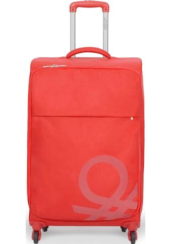 United Colors of Benetton Weichgepäck-Trolley »Blow, 57 cm, red«, 4 Rollen kaufen