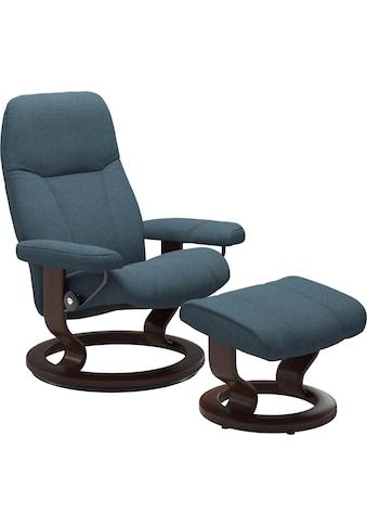 Stressless® Relaxsessel »Consul«, mit Hocker, mit Classic Base, Größe L, Gestell Braun kaufen