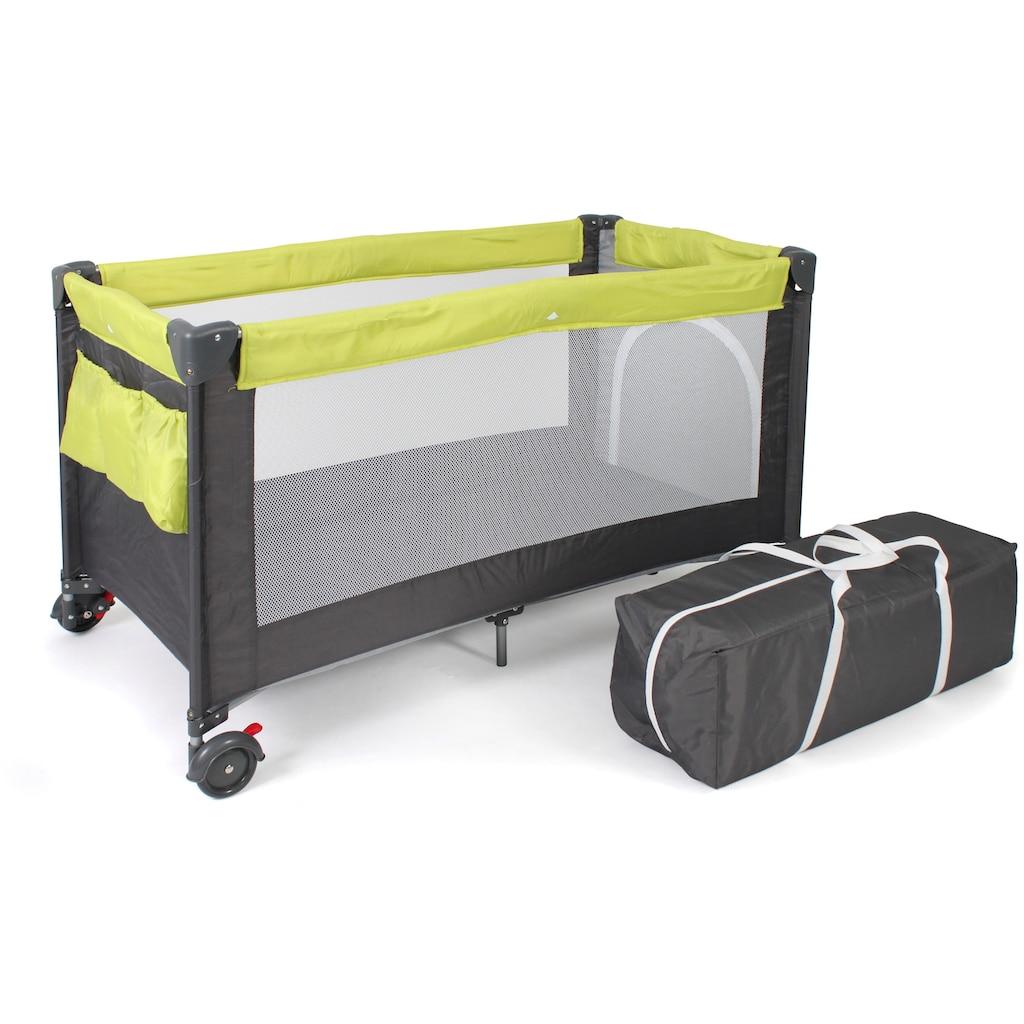 CHIC4BABY Baby-Reisebett »Luxus, Lemongreen«