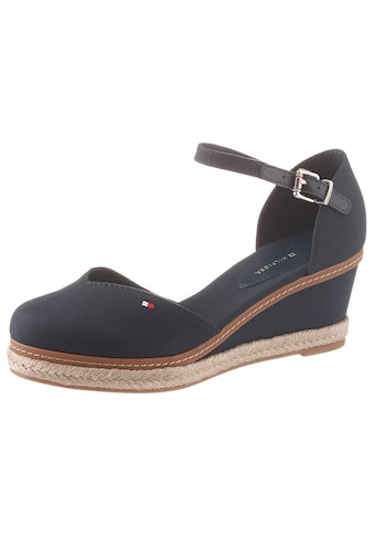 TOMMY HILFIGER Spangenpumps »BASIC CLOSED TOE MID WEDGE«, mit verstellbarer Schnalle kaufen