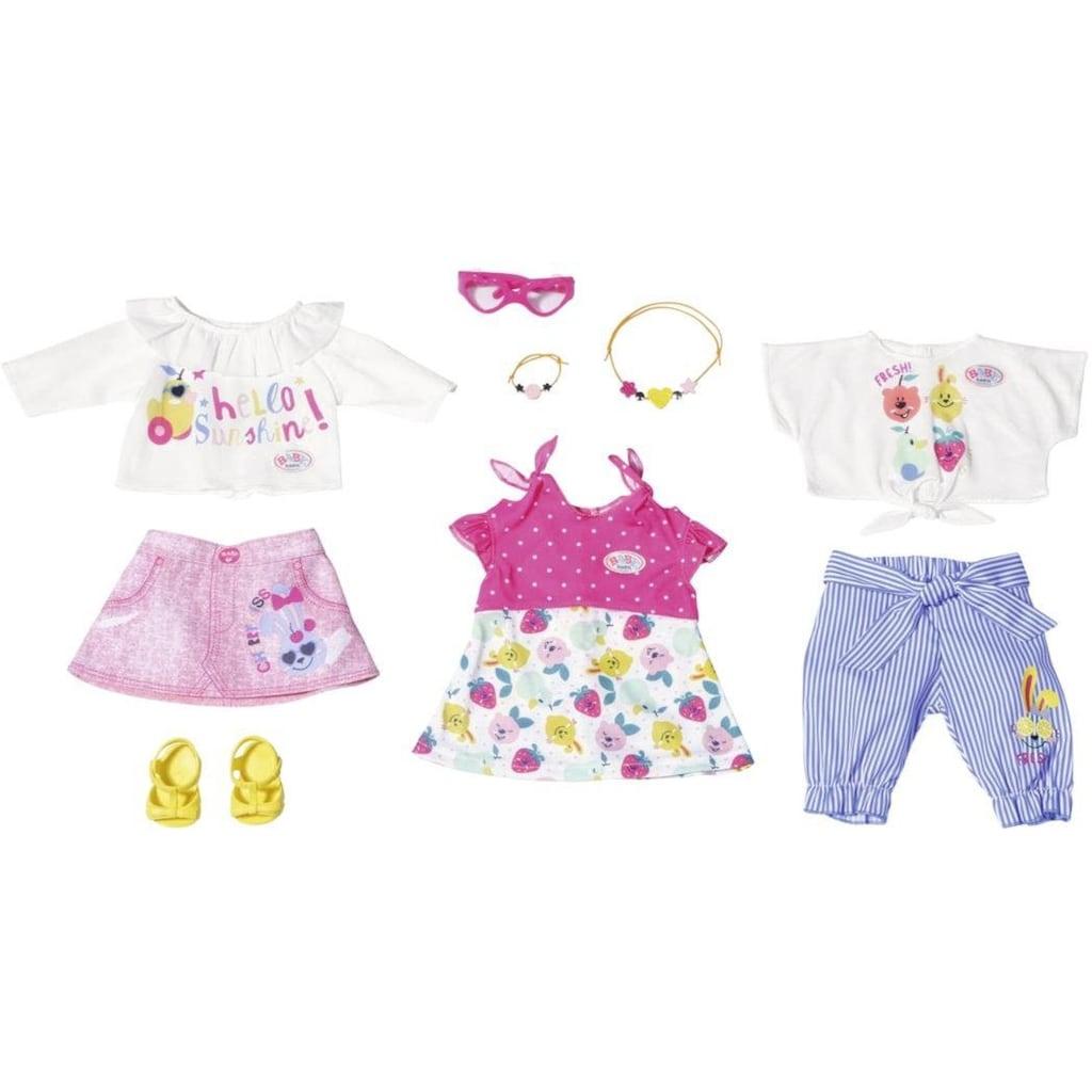 Baby Born Puppenkleidung »Holiday Modeset Frühling«, (Set, 9 tlg.)
