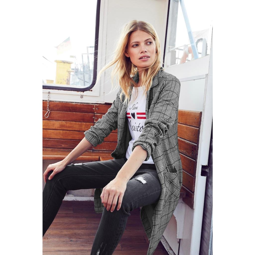 Aniston CASUAL Longblazer, im Karo Dessin