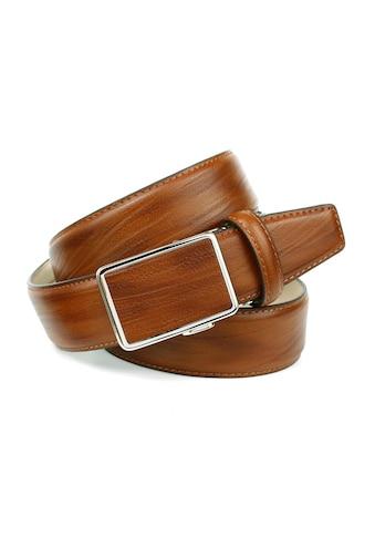 Anthoni Crown Ledergürtel, in angesagter Cognac Farbe, Schließe farblich passend bezogen kaufen