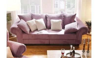 Home affaire Big-Sofa »King Henry«, in legerer Polsterung und vielen losen Kissen kaufen