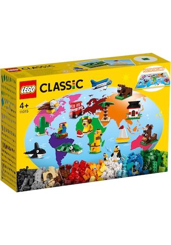 LEGO® Konstruktionsspielsteine »Einmal um die Welt (11015), LEGO® Classic«, (950 St.),... kaufen