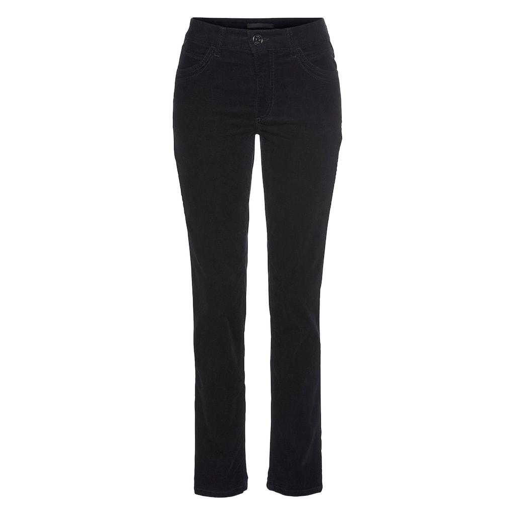 MAC Slim-fit-Jeans »Angela Pipe Glam«, Mit dekorativem Glitzer-Besatz
