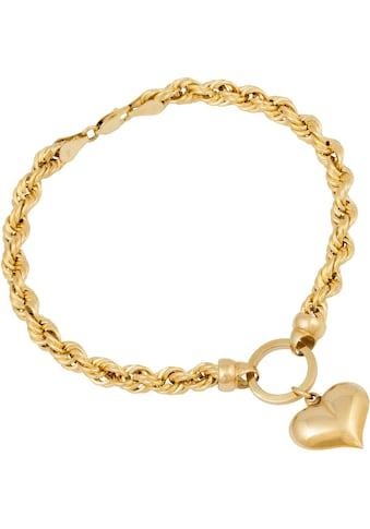 Firetti Armband »Herz, Kordelkettengliederung« kaufen