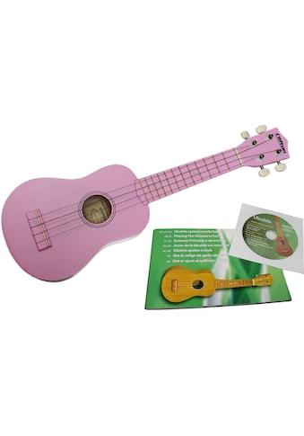 """Clifton Ukulele """"Sopran Ukulele mit Buch und CD, rosa"""" kaufen"""