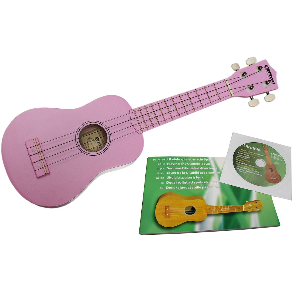 Clifton Ukulele »Sopran Ukulele mit Buch und CD, rosa«