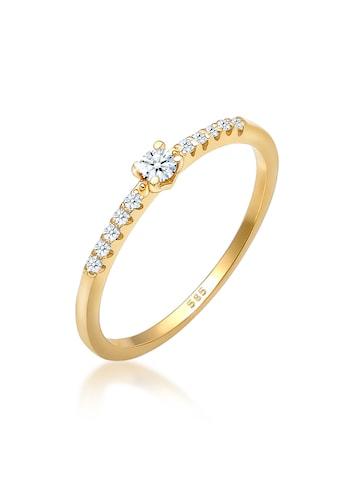 Diamore Diamantring »Geo Microsetting Diamant (0.11 ct.) 585 Gelbgold« kaufen