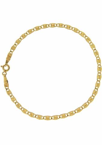 Firetti Goldarmband »Plättchenkettengliederung, Diamantiert, Glanz, 3 mm breit« kaufen