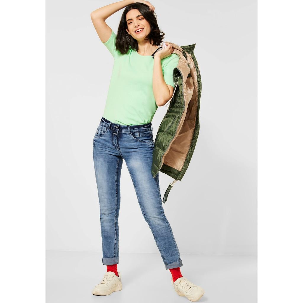 Cecil Slim-fit-Jeans »Style Scarlett«, mit Herzniete an der Eingriffstasche