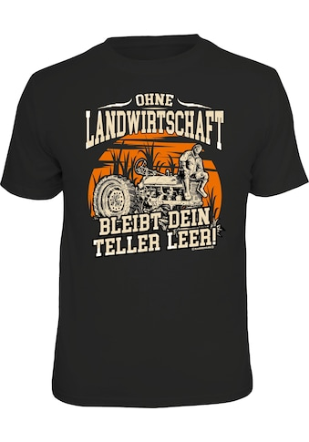 Rahmenlos T-Shirt mit landwirtschaftlichem Print kaufen