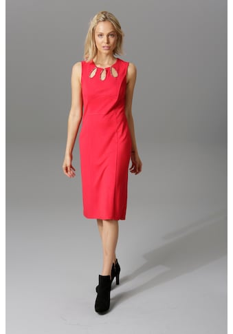 Aniston SELECTED Jerseykleid, mit Schmucksteinen in Tropfenform kaufen