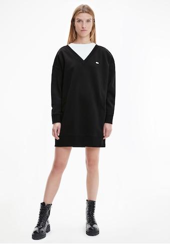 Tommy Jeans Sweatkleid »TJW V-NECK SWEAT DRESS«, mit tiefem V-Ausschnitt vorn & hinten kaufen