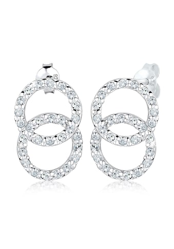 Elli Paar Ohrstecker »Kreis Geo Trend Kristalle 925 Silber« kaufen