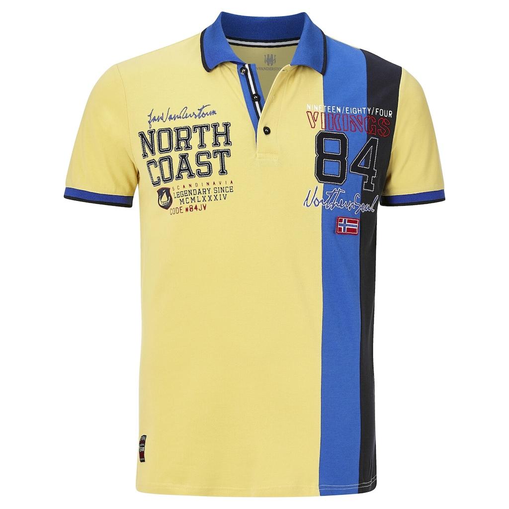 Jan Vanderstorm Poloshirt »NORVYN«, luftiges Baumwoll-Pikee