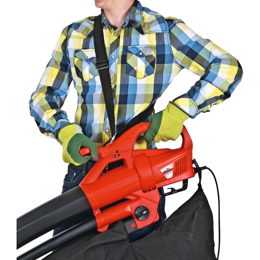 Grizzly Tools Elektro-Laubsauger »ELS 2614-2 E«, 270 km/h Blasgeschwindigkeit