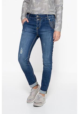 ATT Jeans Boyfriend-Jeans »Kira«, mit Paillettenaufsätzen kaufen