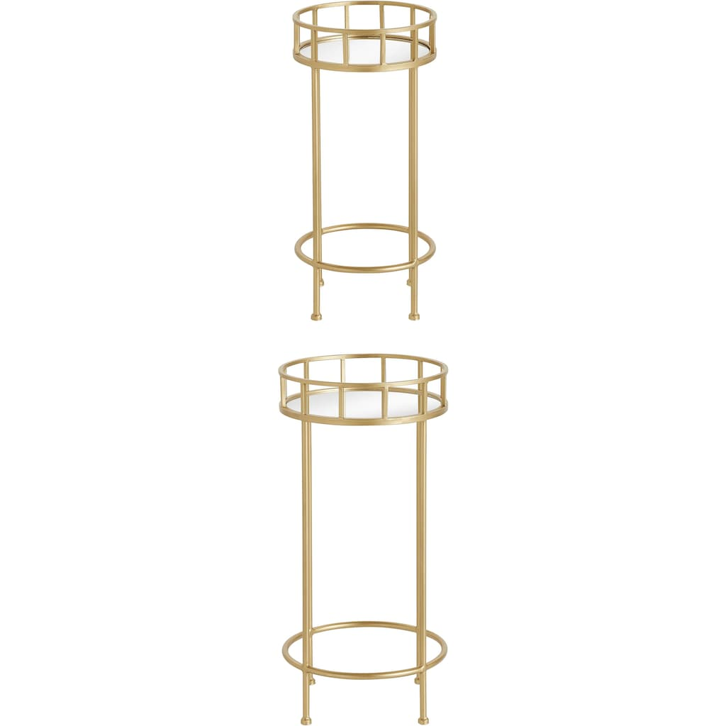Leonique Beistelltisch, (Set, 2 St., 2er-Set), mit Spiegelfläche