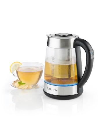 Klarstein Wasserkocher 2 - in - 1 Teekocher mit Teesieb 1,7L LED - Beleuchtung »Ostfriese« kaufen