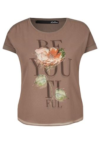 LeComte Kurzarmshirt, mit Statement und floralem Muster kaufen